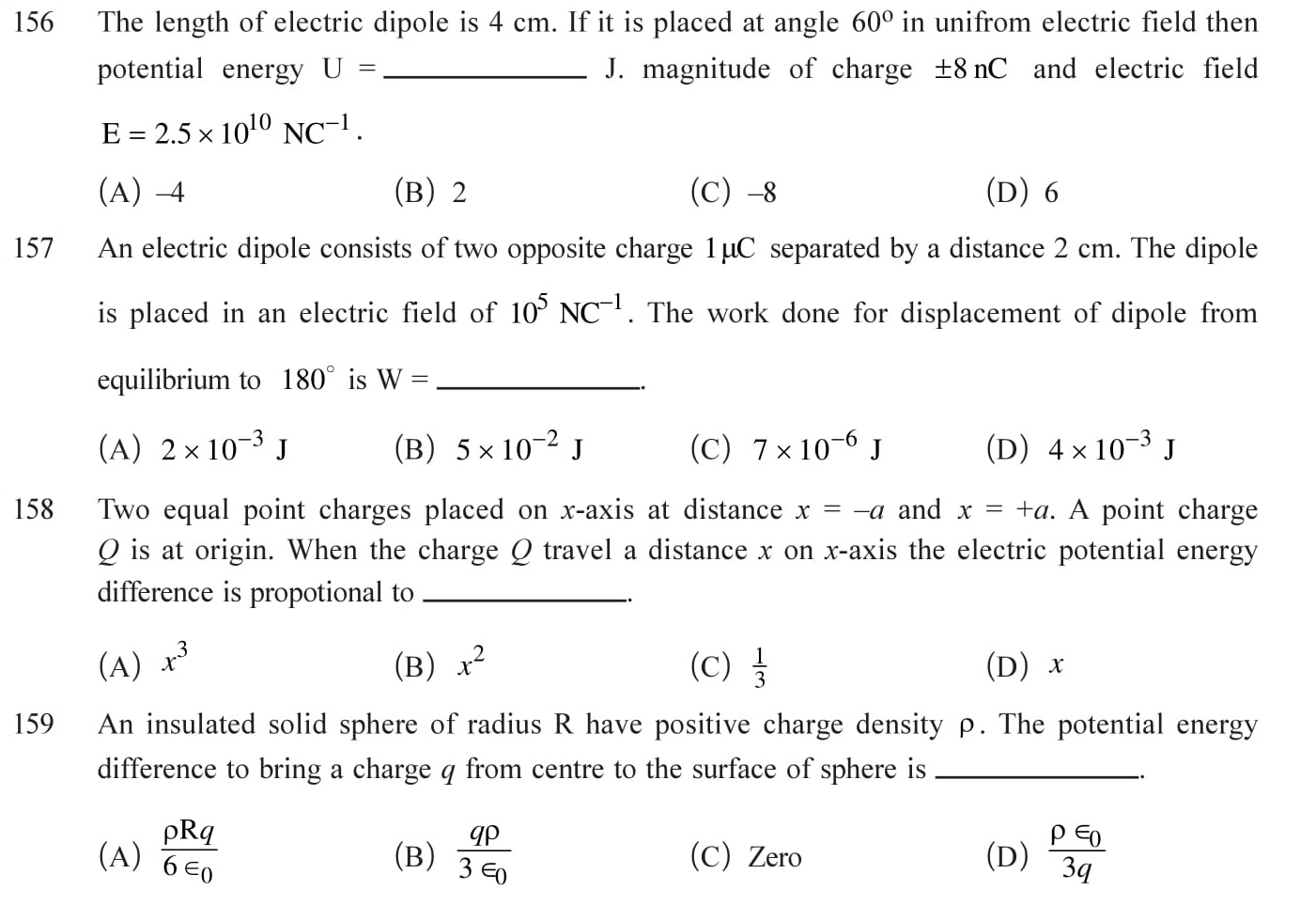 12 Physics Chapter 2 Electrostatic potential NEET & JEE Questions-8