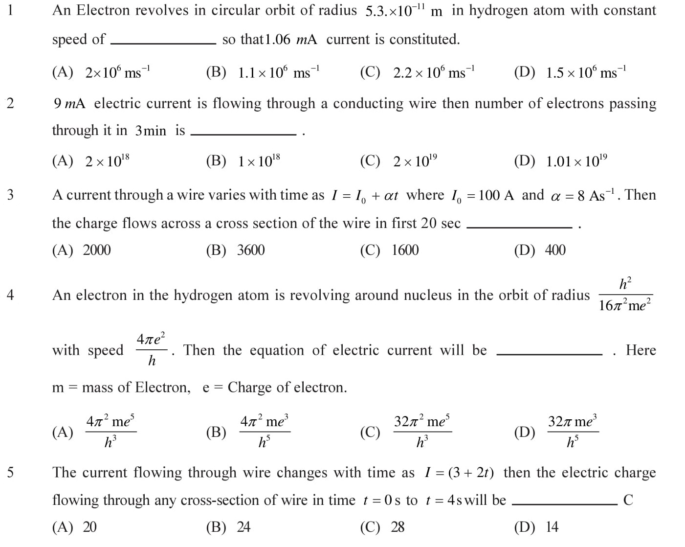NEET-JEE-IIT-Questions-Current-Electricity-Topic-1