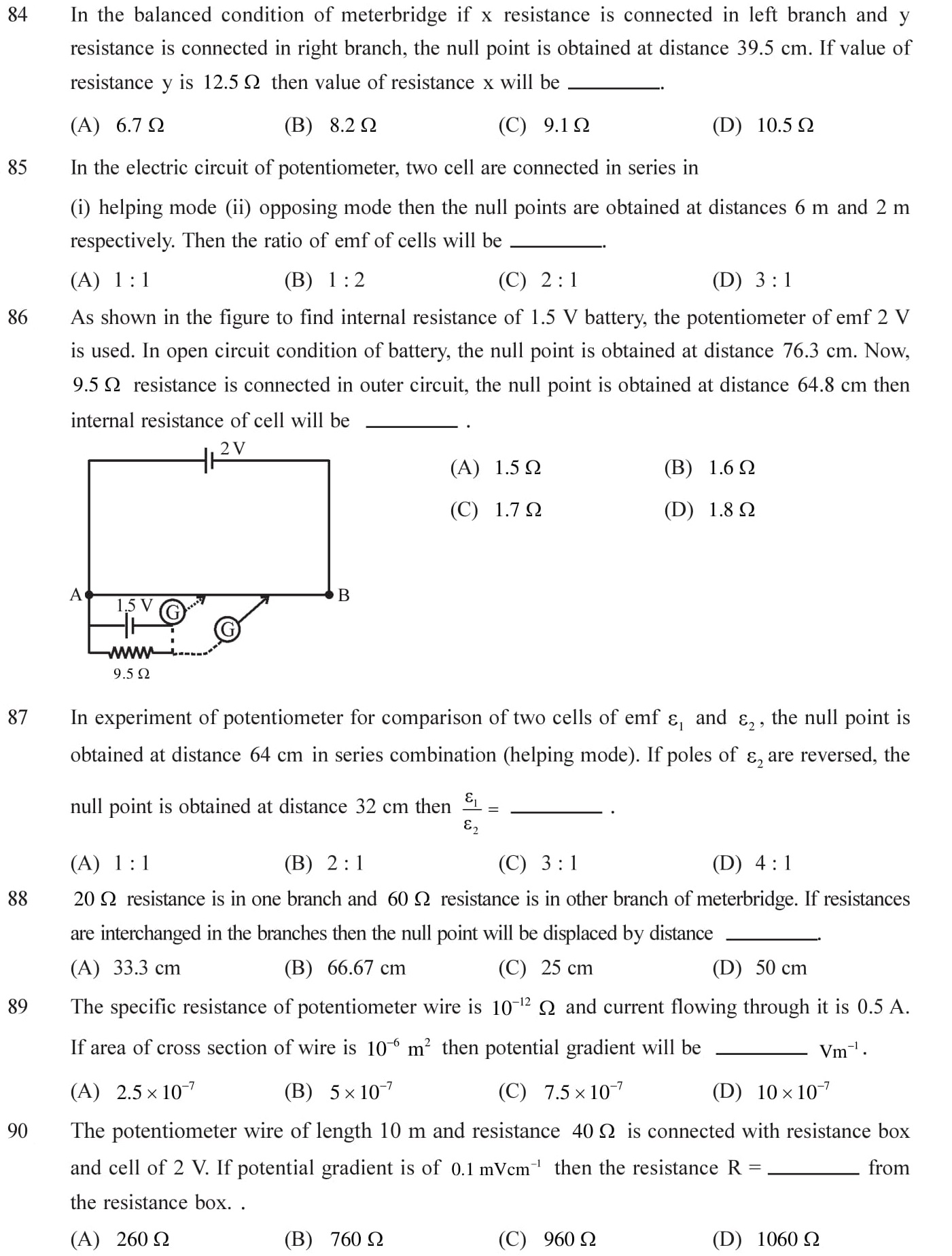 NEET-JEE-IIT-Questions-Current-Electricity-Topic-16