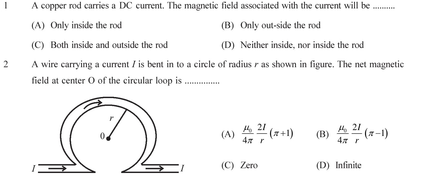 12-Physics-Moving-Charges-Magnetism-NEET-JEE-IIT-Questions-Topic-1