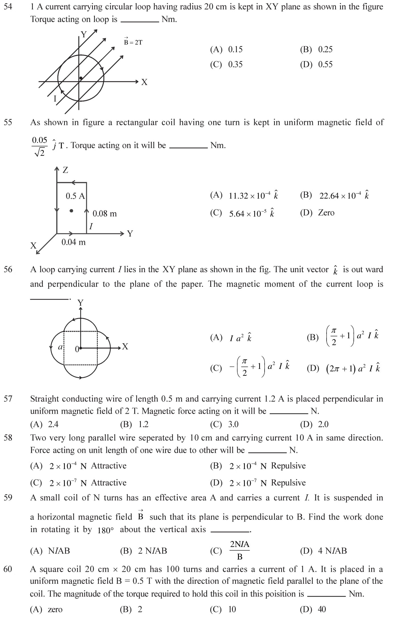 12-Physics-Moving-Charges-Magnetism-NEET-JEE-IIT-Questions-Topic-10
