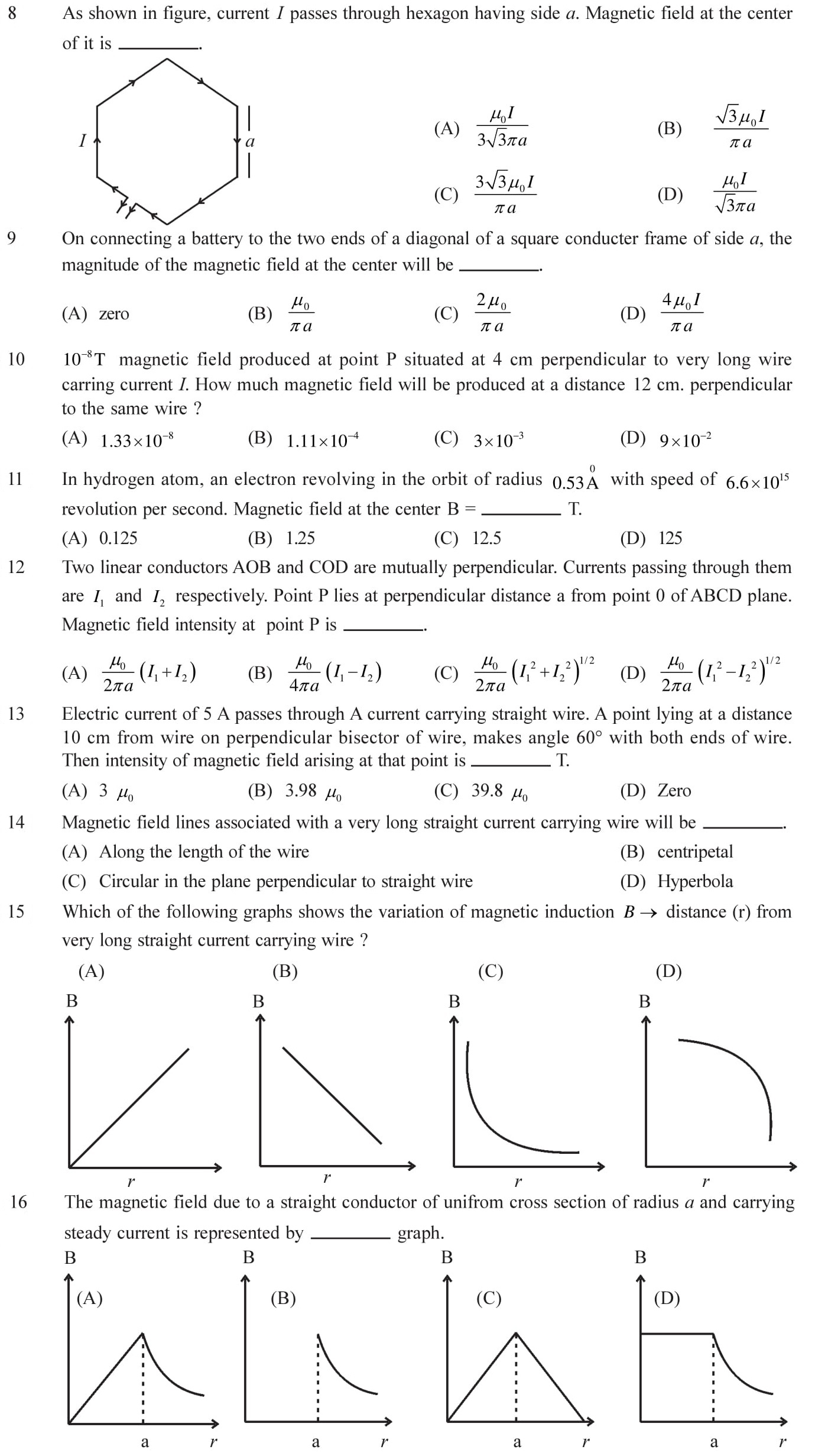 12-Physics-Moving-Charges-Magnetism-NEET-JEE-IIT-Questions-Topic-3