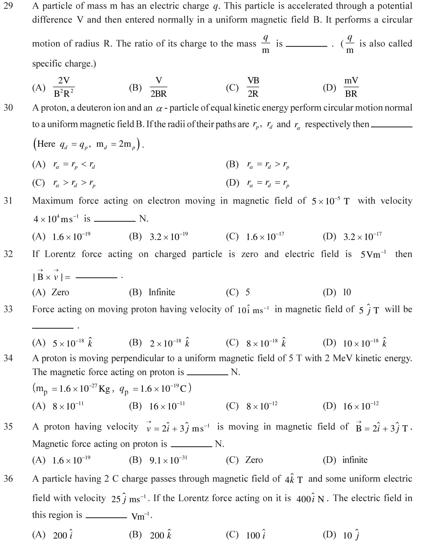 12-Physics-Moving-Charges-Magnetism-NEET-JEE-IIT-Questions-Topic-6