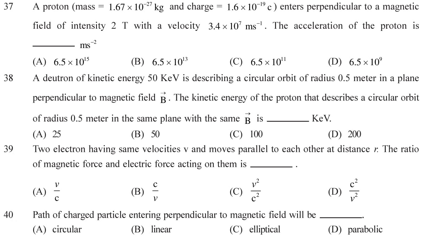 12-Physics-Moving-Charges-Magnetism-NEET-JEE-IIT-Questions-Topic-7