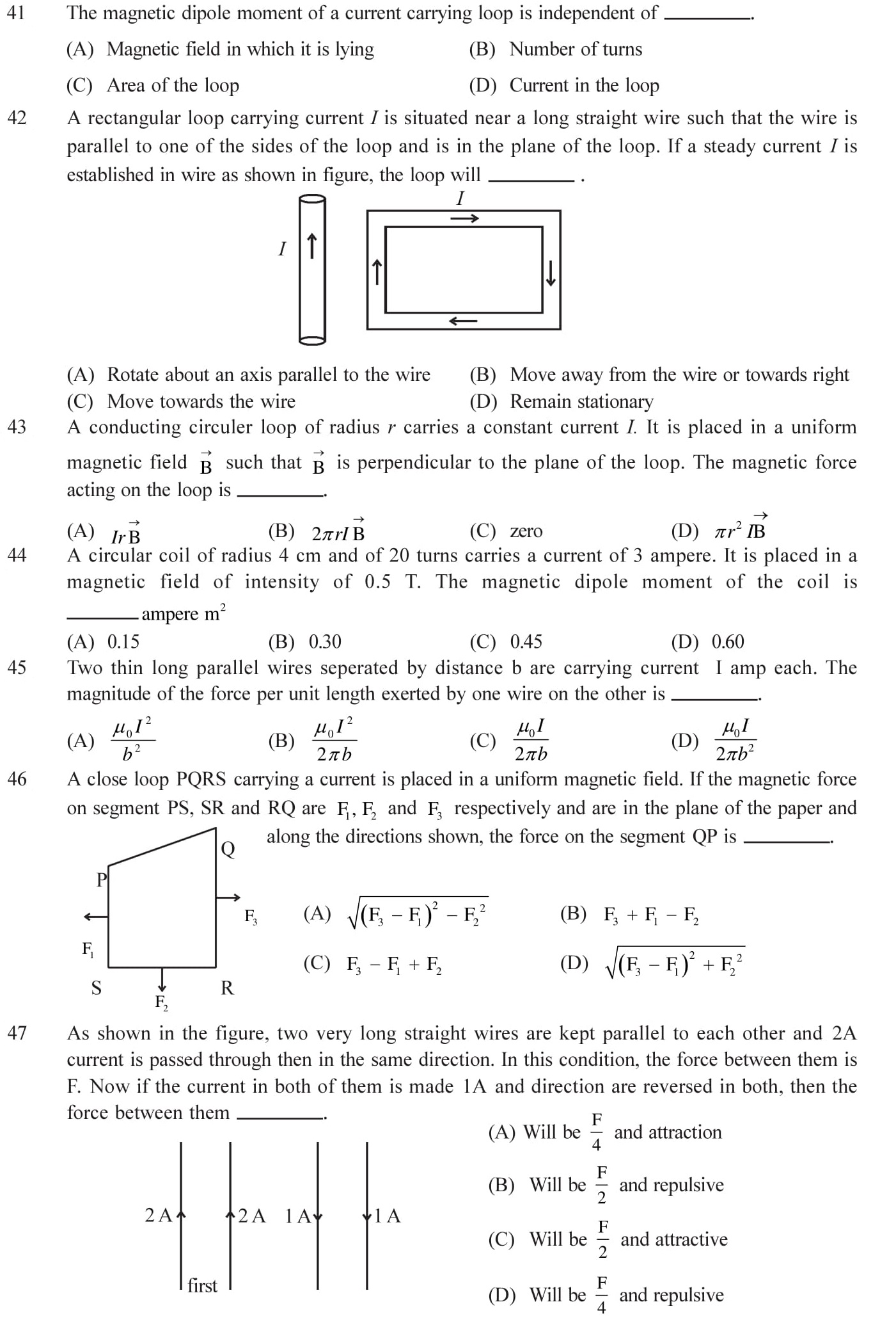 12-Physics-Moving-Charges-Magnetism-NEET-JEE-IIT-Questions-Topic-8