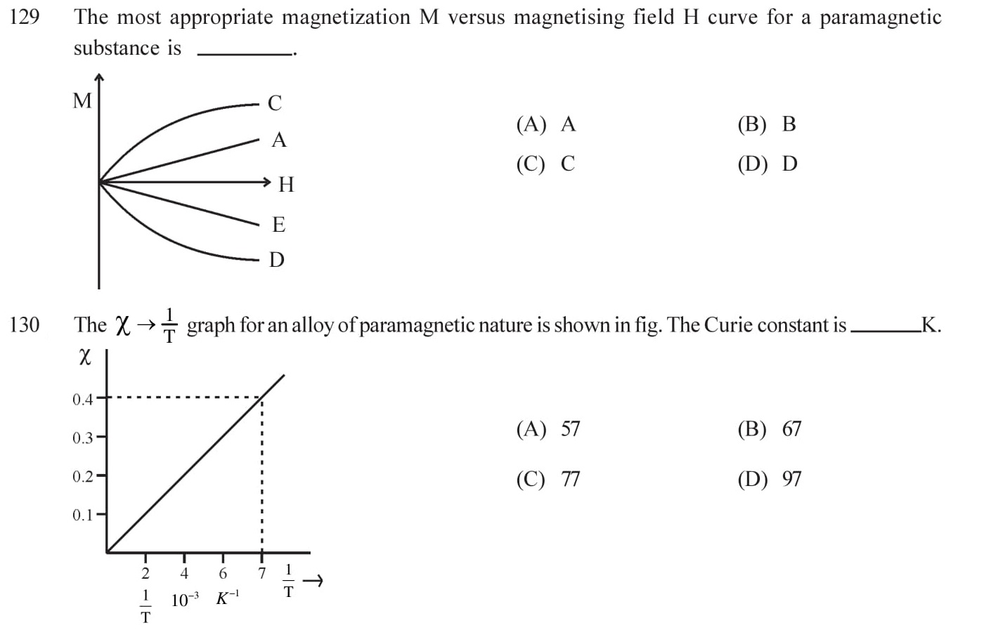 12 Physics Magnetism and Matter Questions for NEET, JEE, IIT set - 8