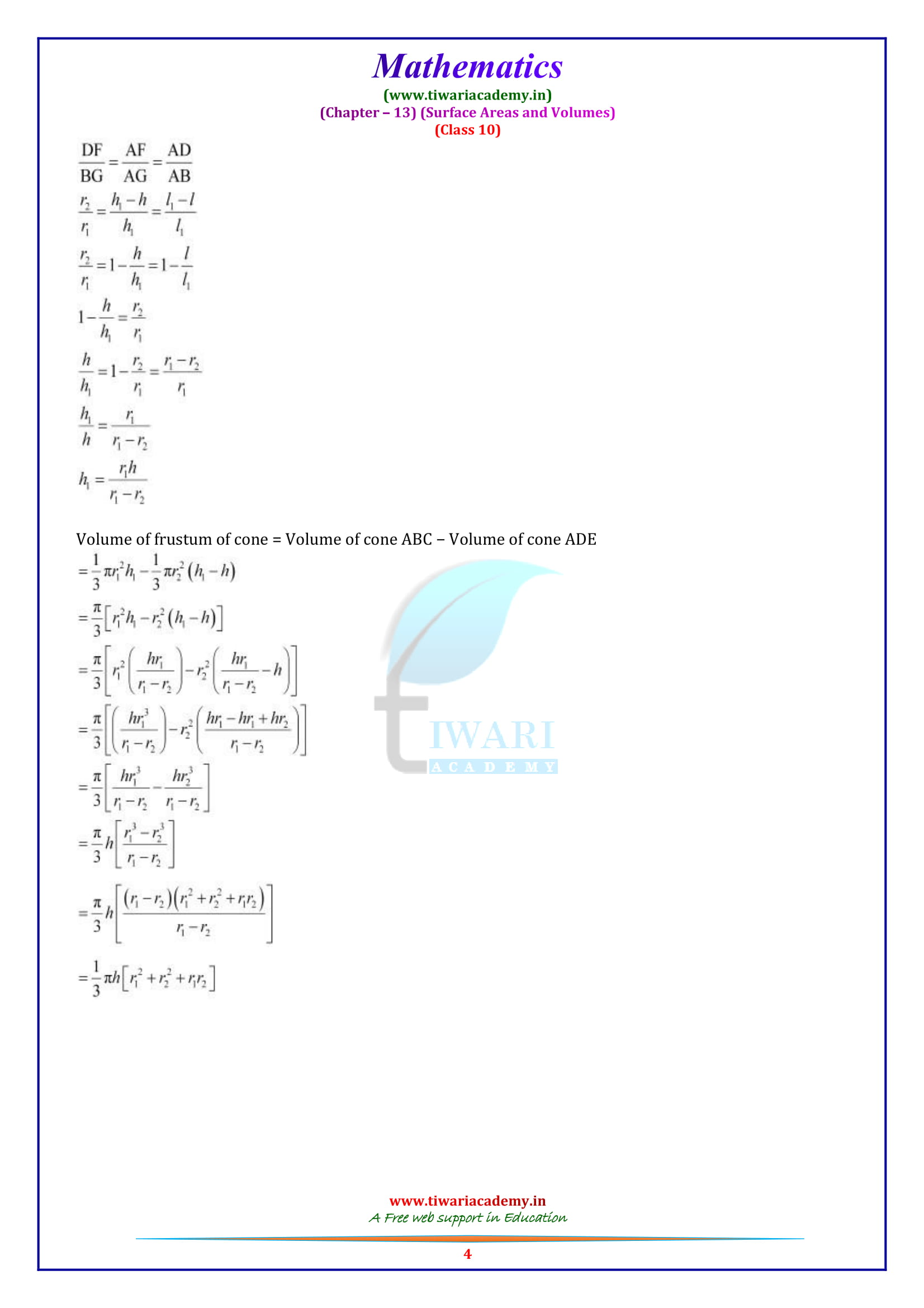 10 Maths exercise 13.5 in pdf free to download