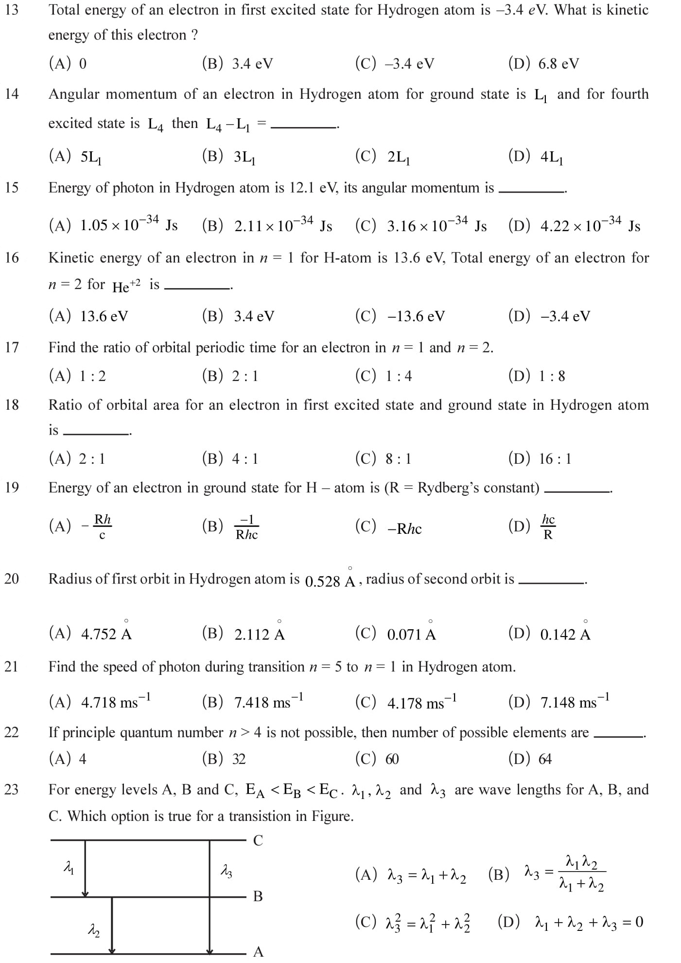 Numerical problems based on atoms for practice cbse exams
