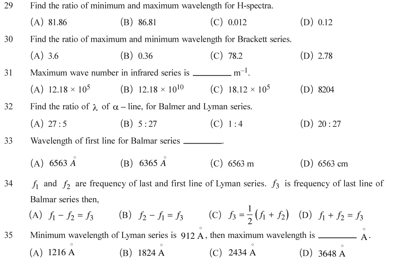 12 Physics numericals with answers