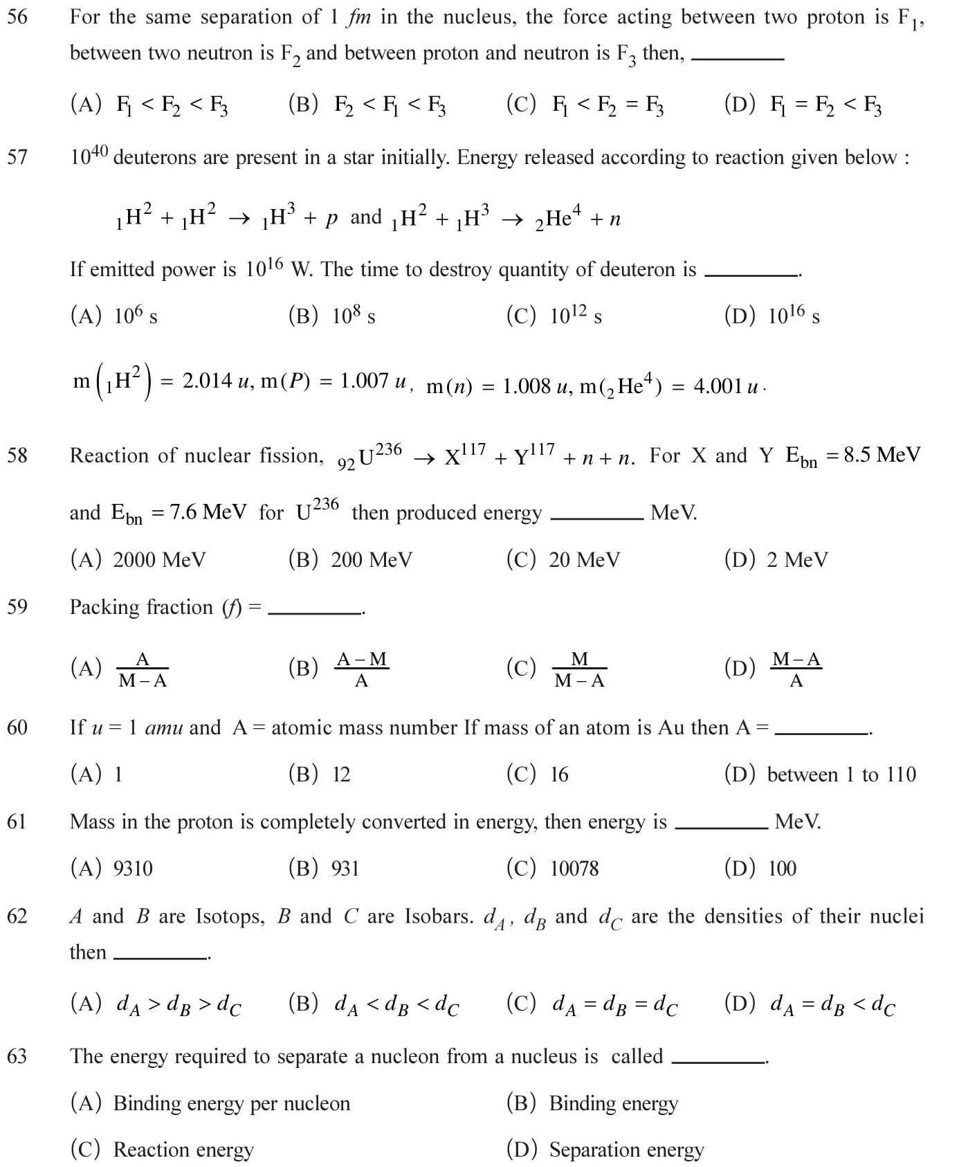 NCERT Solutions For Class 12 Physics Chapter 13 Nuclei In