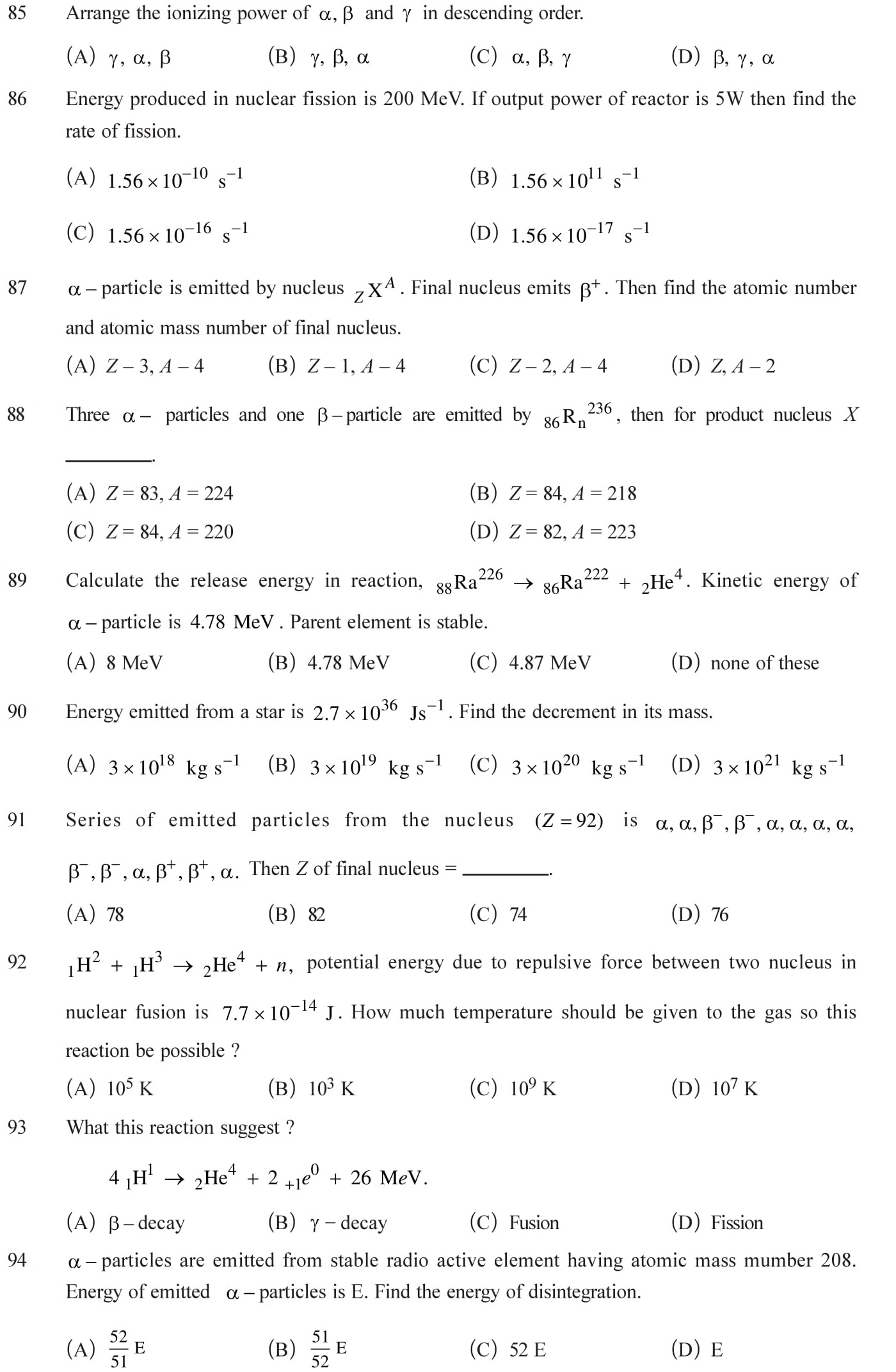 13 Physics ch.13 nuclei practice questions with answers.