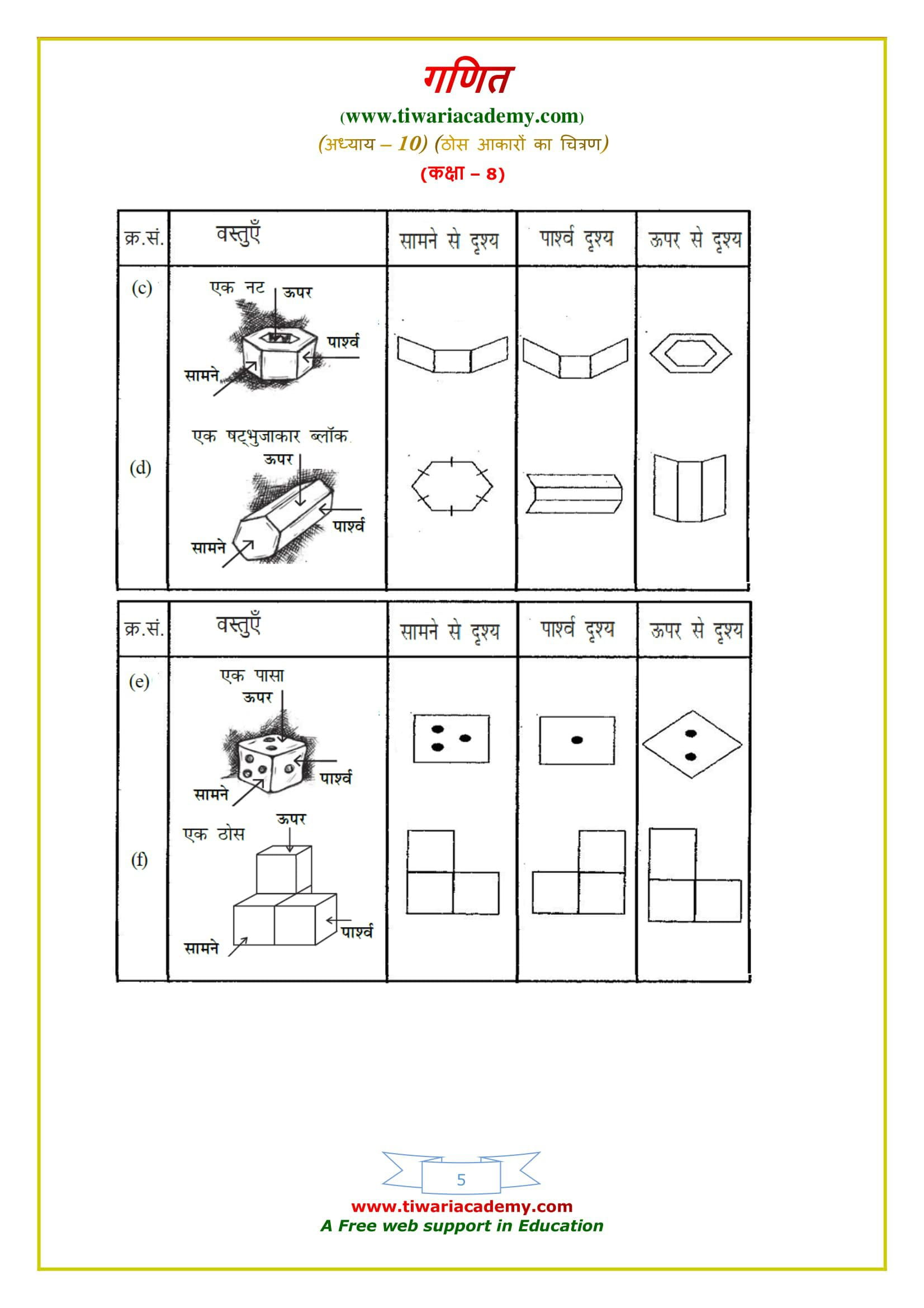 8 Maths Exercise 10.1 solutions guide in hindi