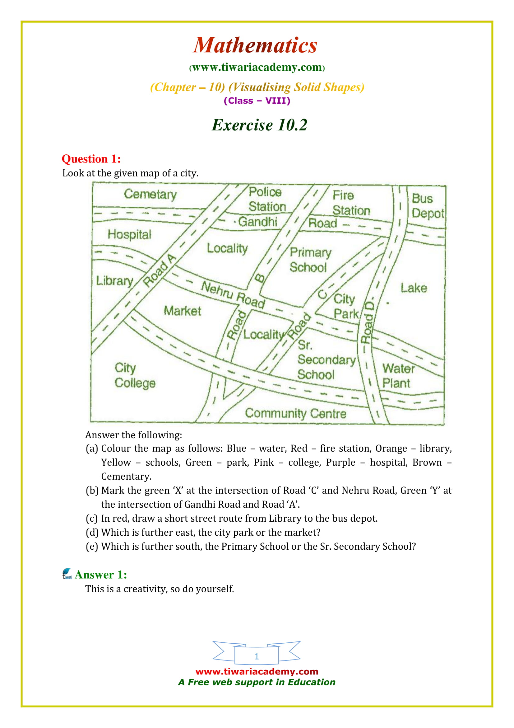 NCERT Solutions for Class 8 Maths Chapter 10 Exercise 10.2 in english medium