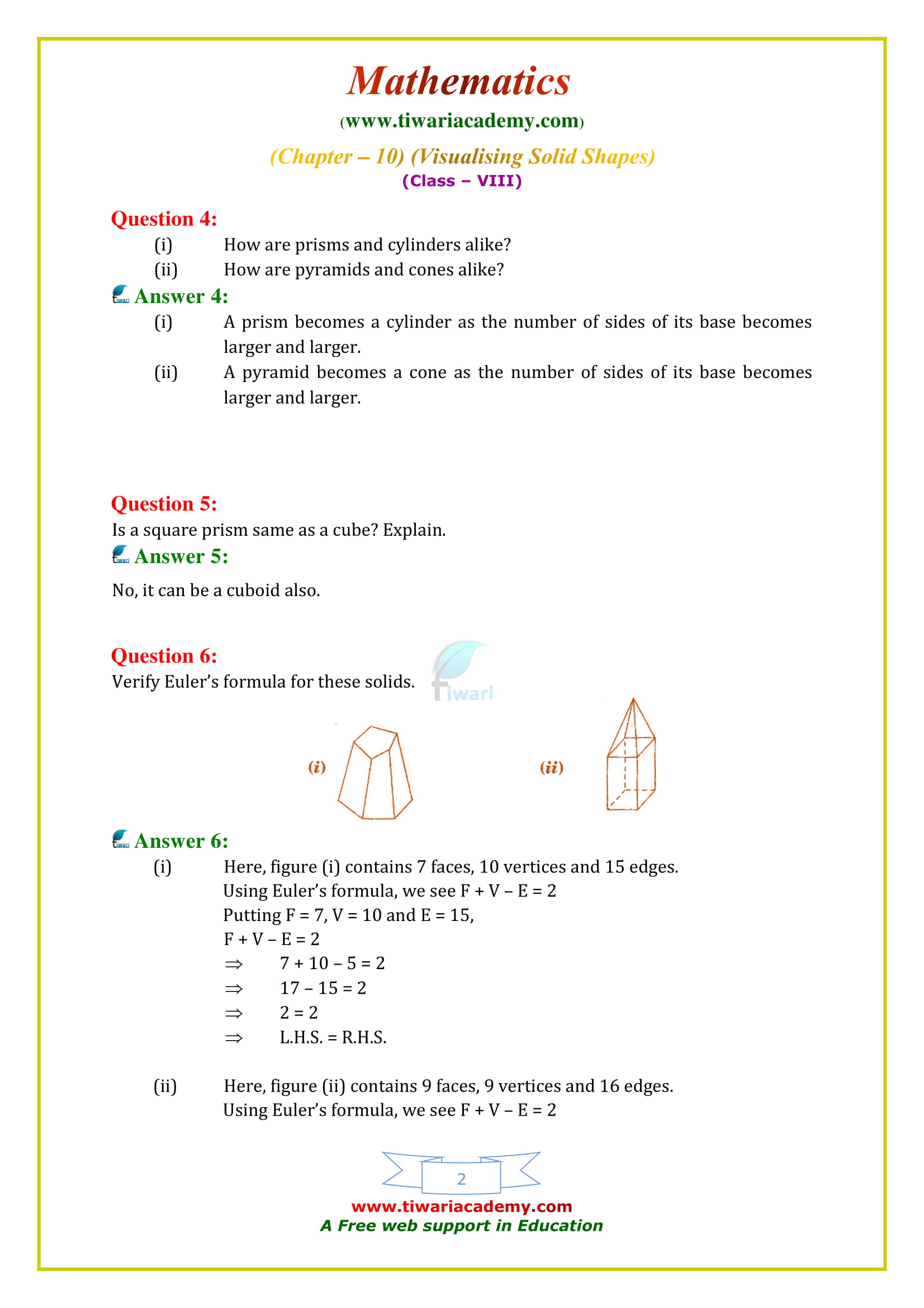 NCERT Solutions for Class 8 Maths Chapter 10 Exercise 10.3 updated for 2018-19