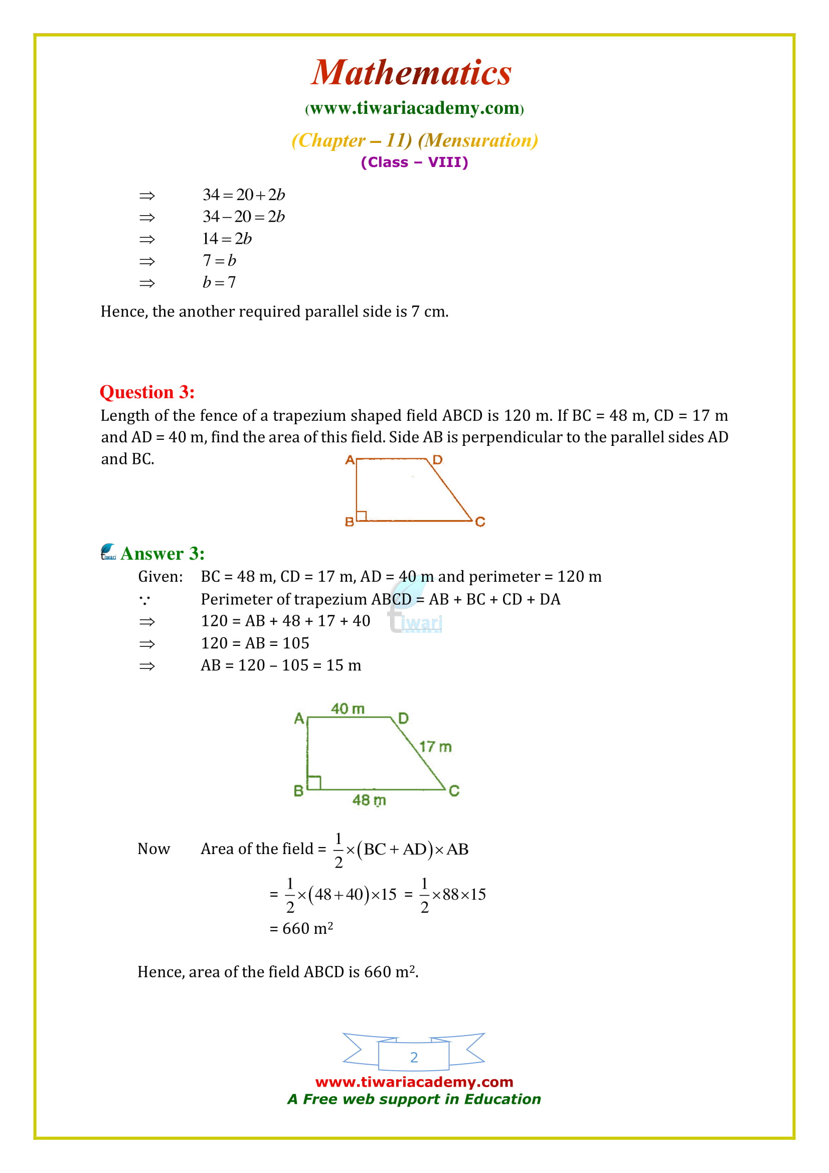 NCERT Solutions for Class 8 Maths Chapter 11 Exercise 11.2 in updated form 2018-19.