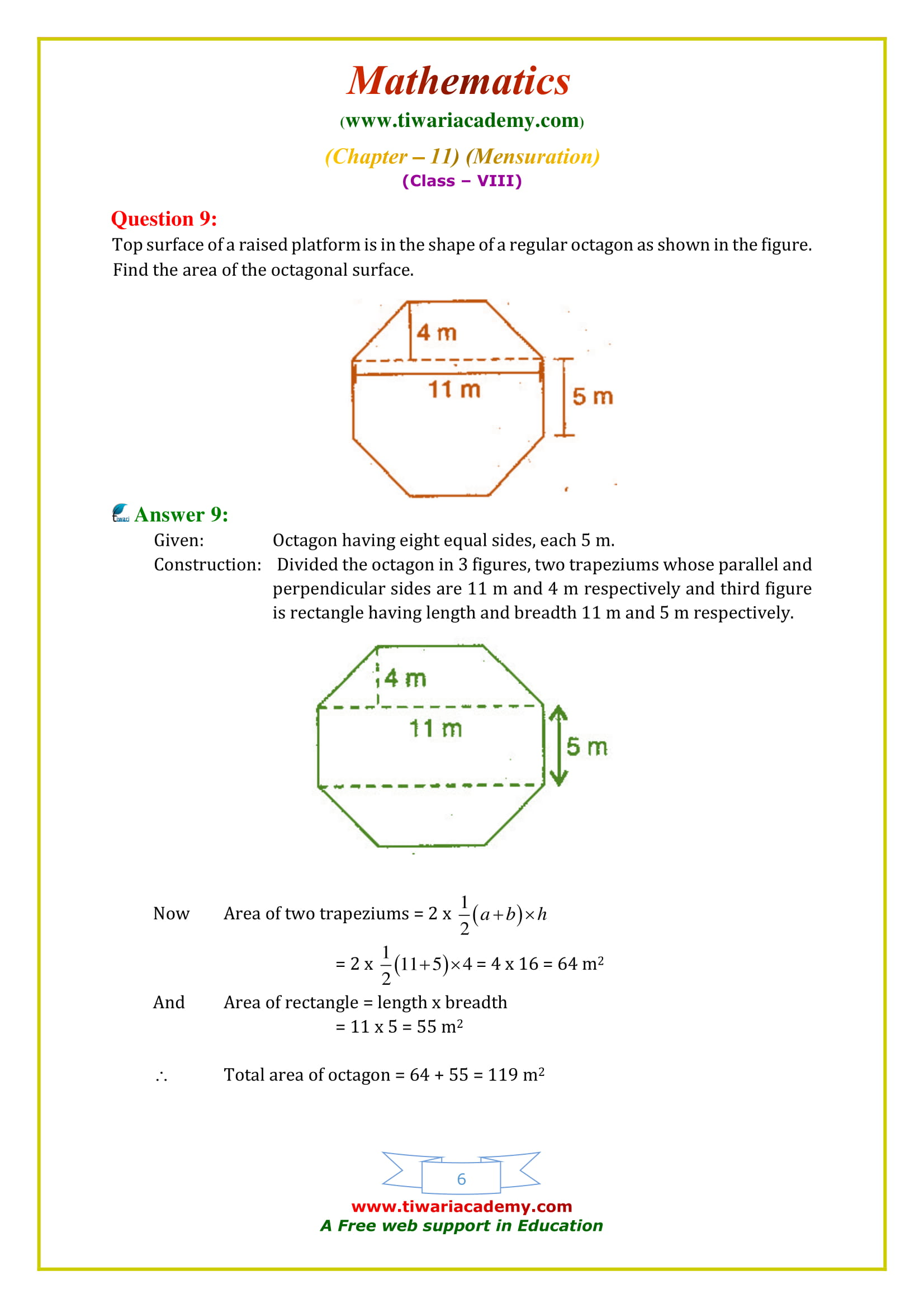 NCERT Solutions for Class 8 Maths Chapter 11 Exercise 11.2 for mp and cbse board
