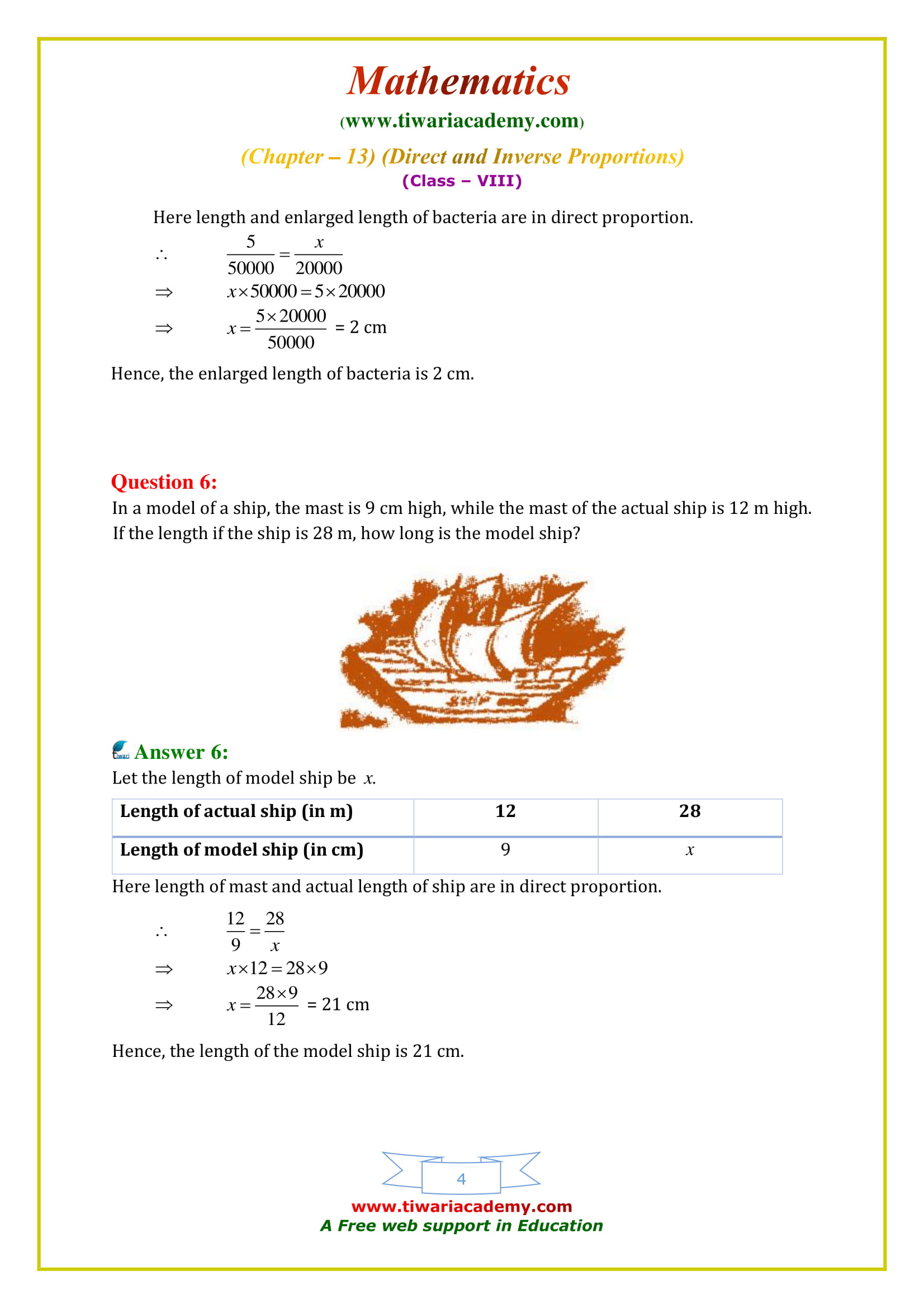 NCERT Solutions for Class 8 Maths Chapter 13 Exercise 13.1 in english