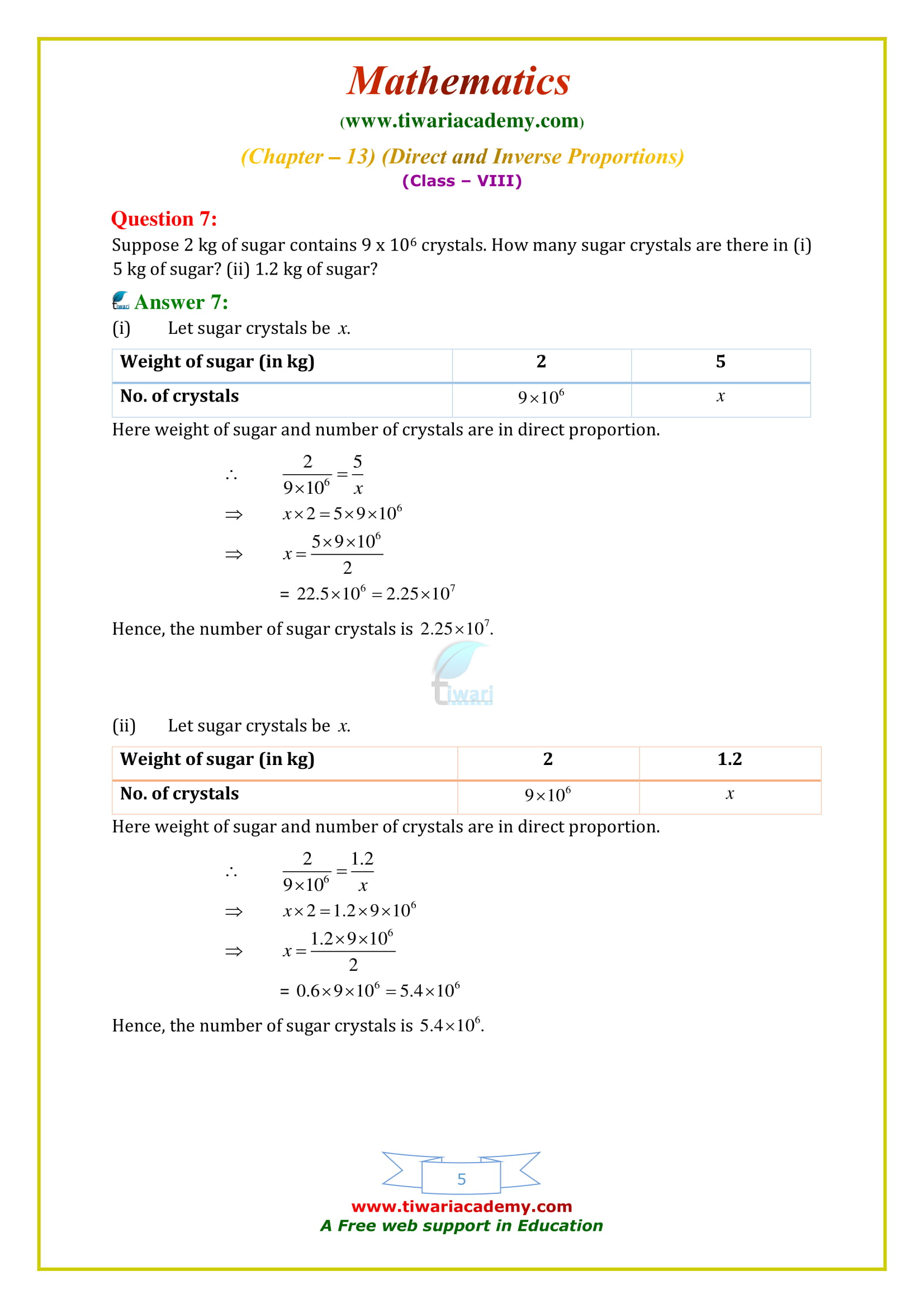 NCERT Solutions for Class 8 Maths Chapter 13 Exercise 13.1 all question answers