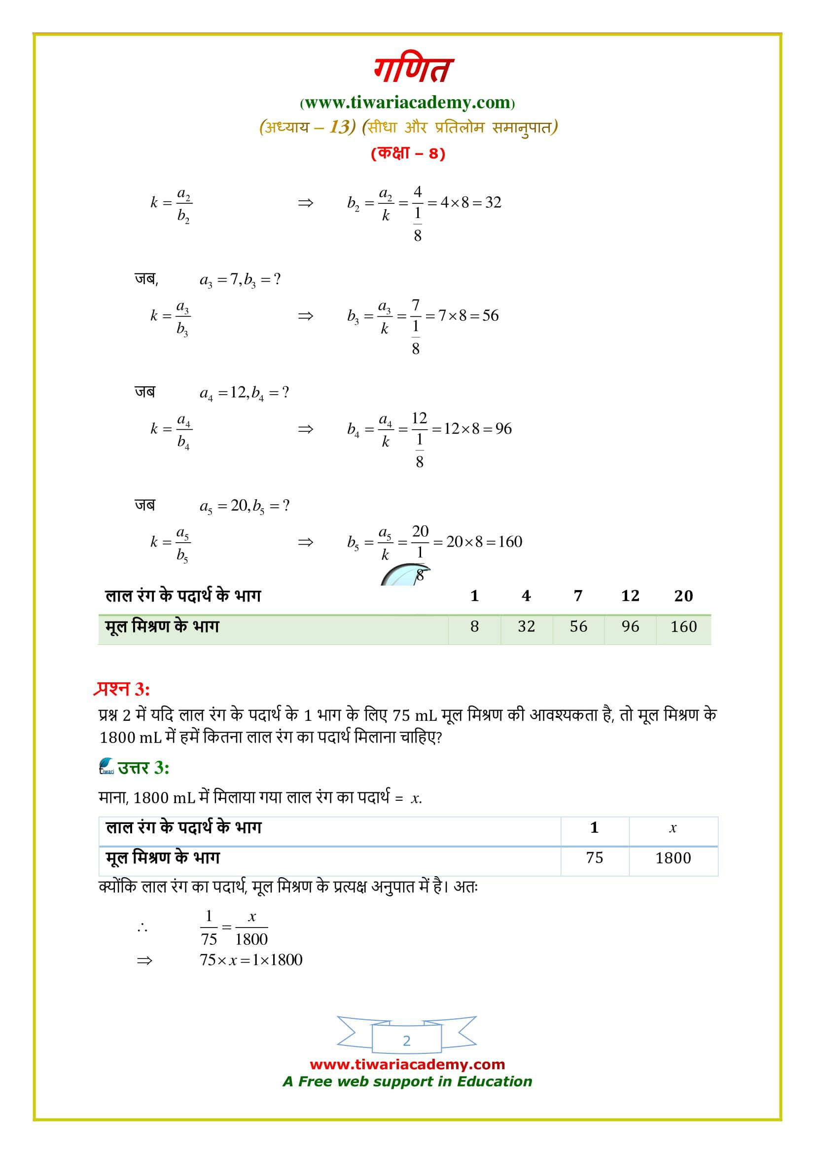 8 Maths Exercise 13.1 solutions updated for 2020 – 2021