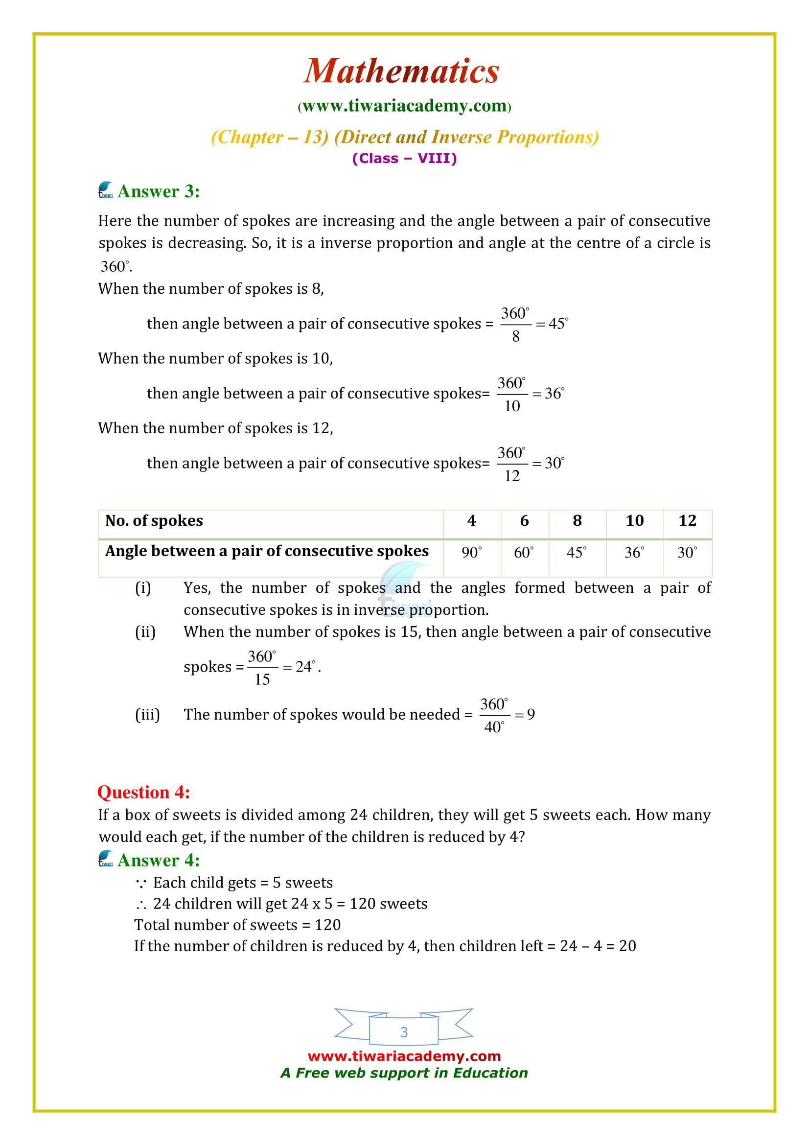 NCERT Solutions for Class 8 Maths Chapter 13 Exercise 13.2 study online free