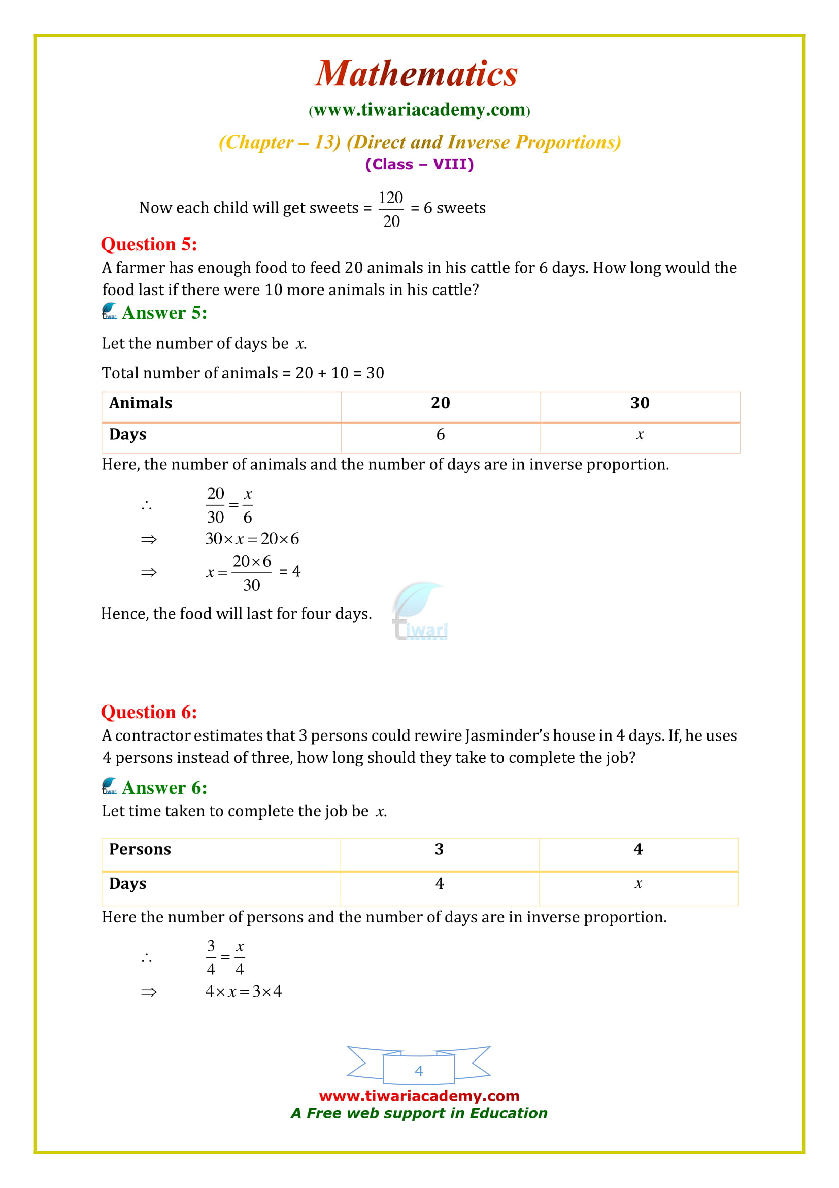 NCERT Solutions for Class 8 Maths Chapter 13 Exercise 13.2 free to use
