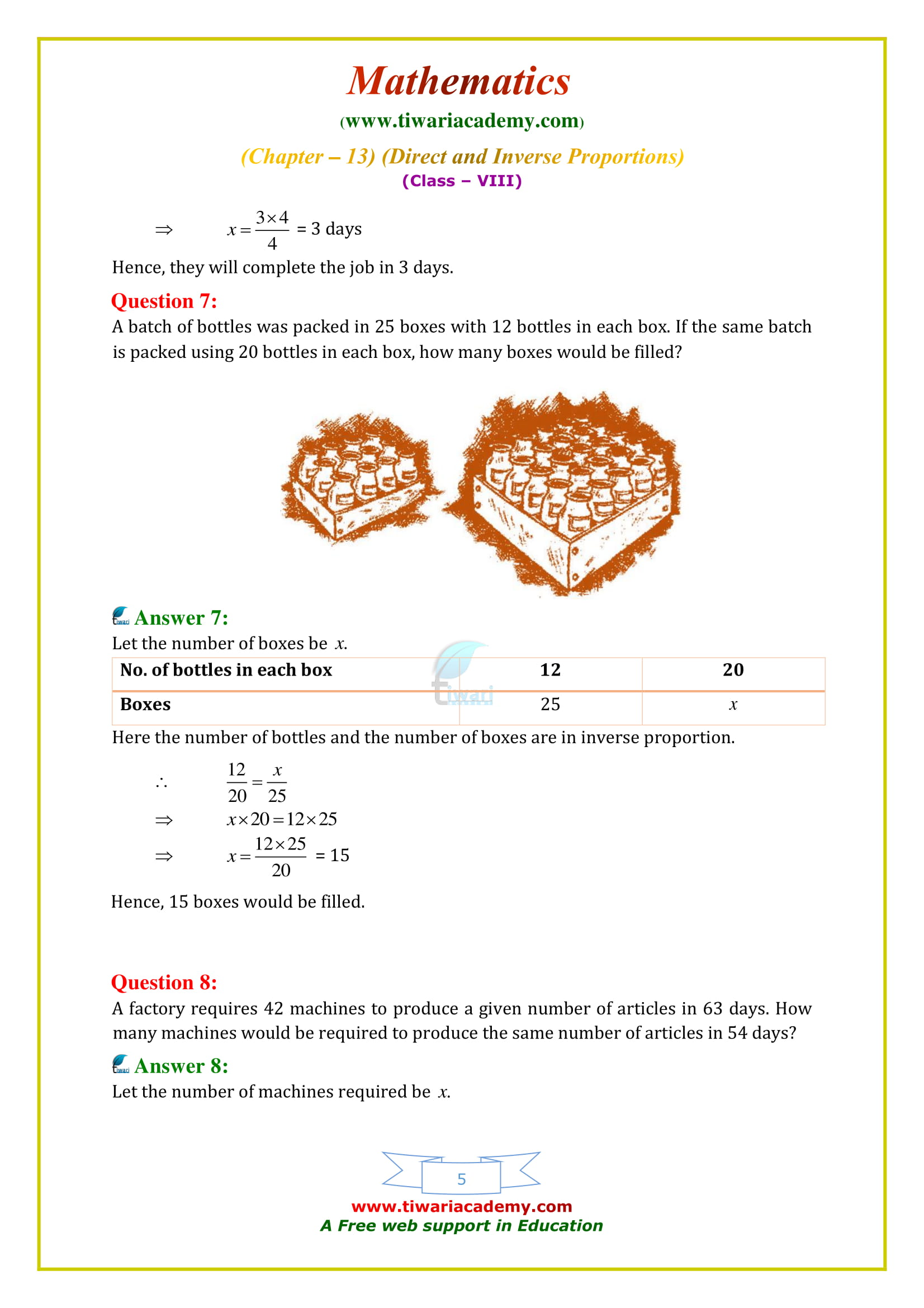 NCERT Solutions for Class 8 Maths Chapter 13 Exercise 13.2 free guide