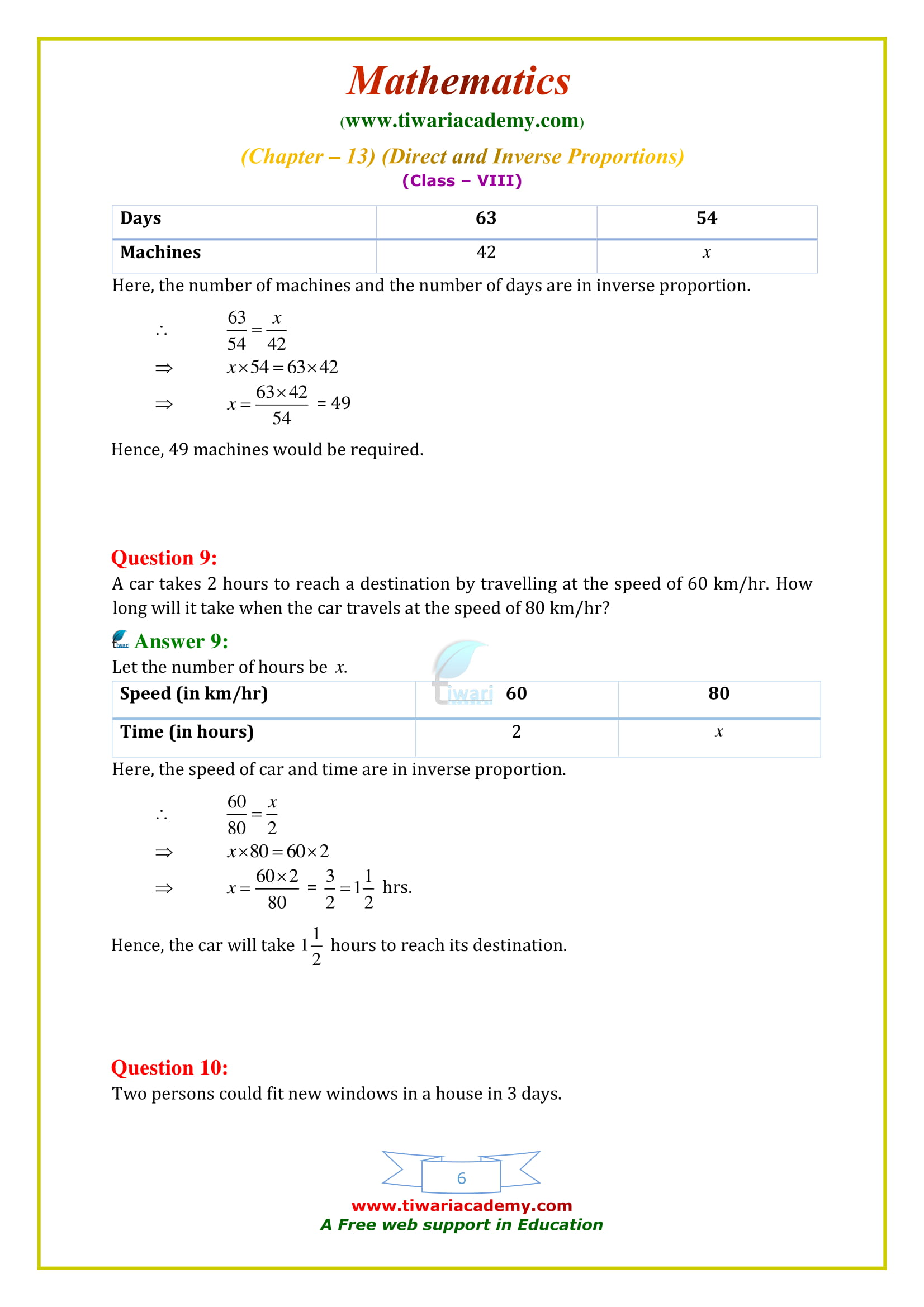 NCERT Solutions for Class 8 Maths Chapter 13 Exercise 13.2 free to download in pdf