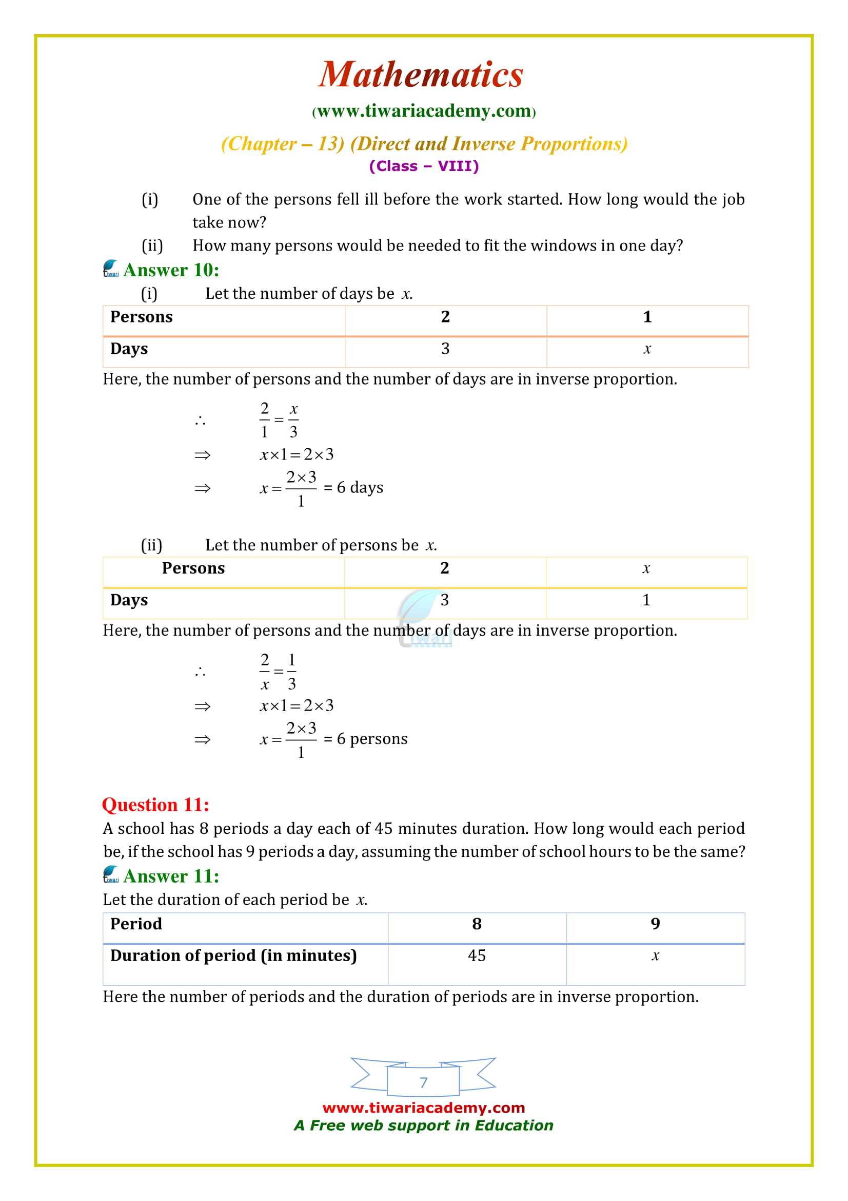 NCERT Solutions for Class 8 Maths Chapter 13 Exercise 13.2 all sols free to download