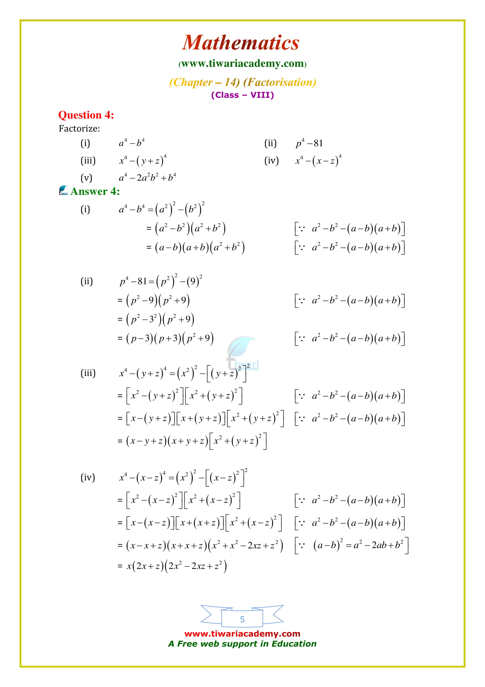 NCERT Solutions for Class 8 Maths Chapter 14 Exercise 14.2 based on cbse syllabus 2018-19