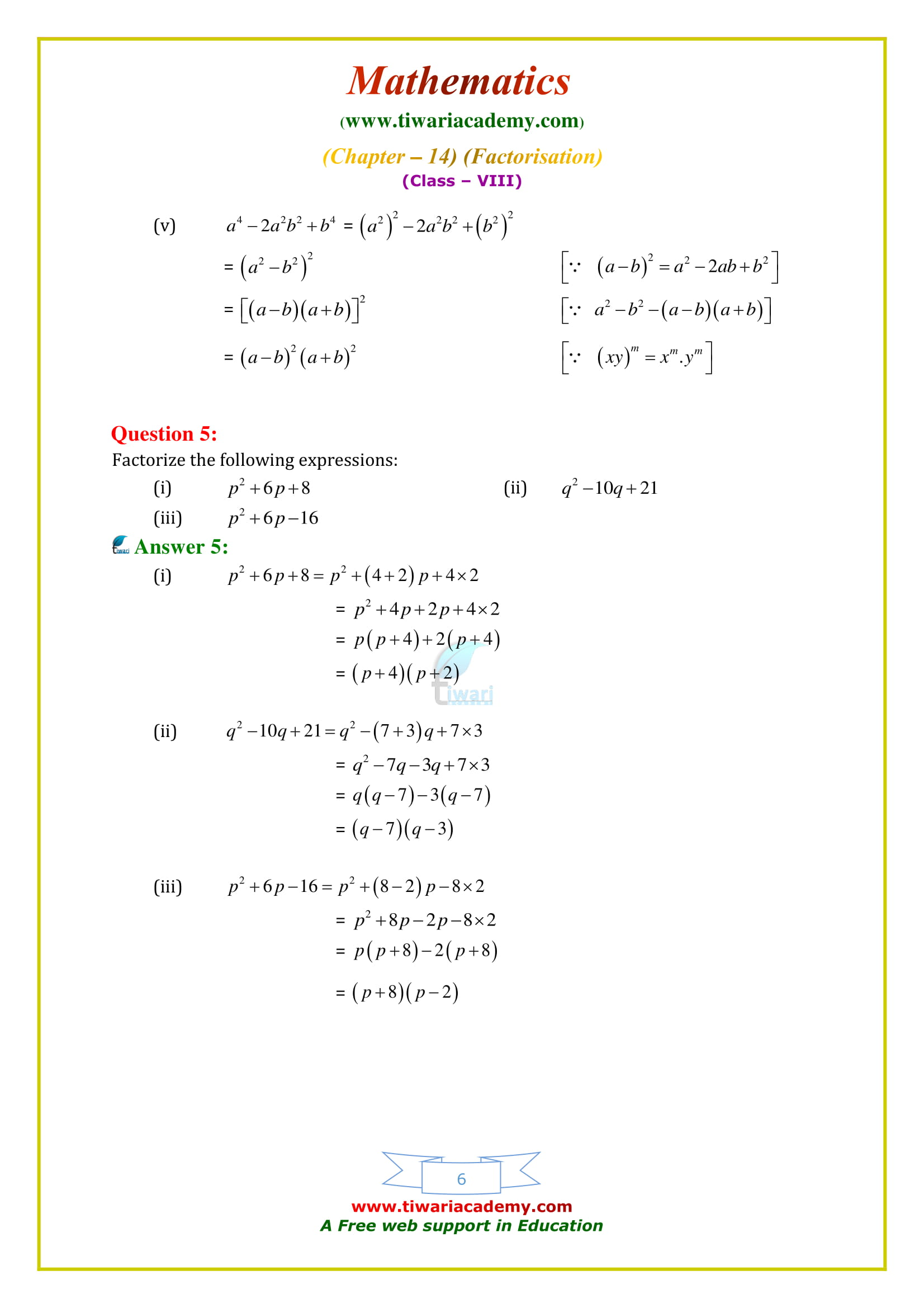 NCERT Solutions for Class 8 Maths Chapter 14 Exercise 14.2 in pdf