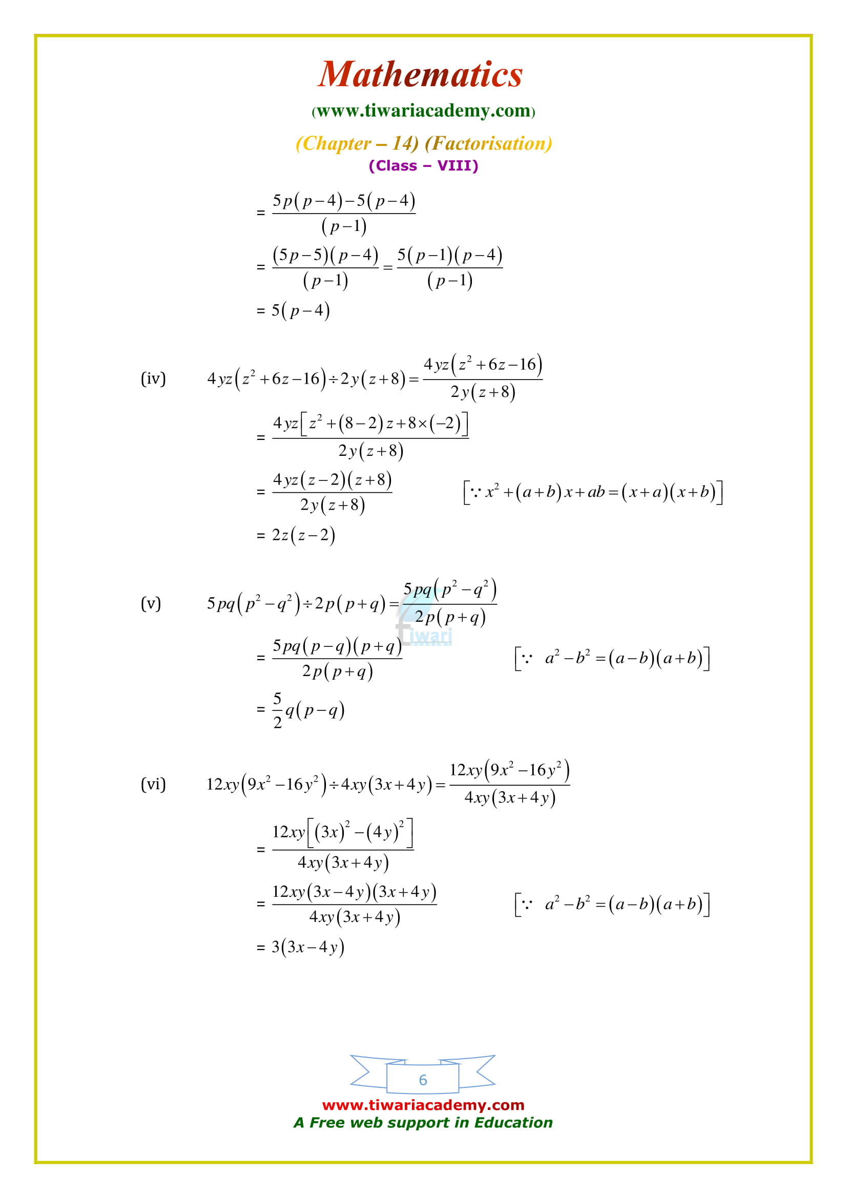 NCERT Solutions for Class 8 Maths Chapter 14 Exercise 14.3 free to download in pdf