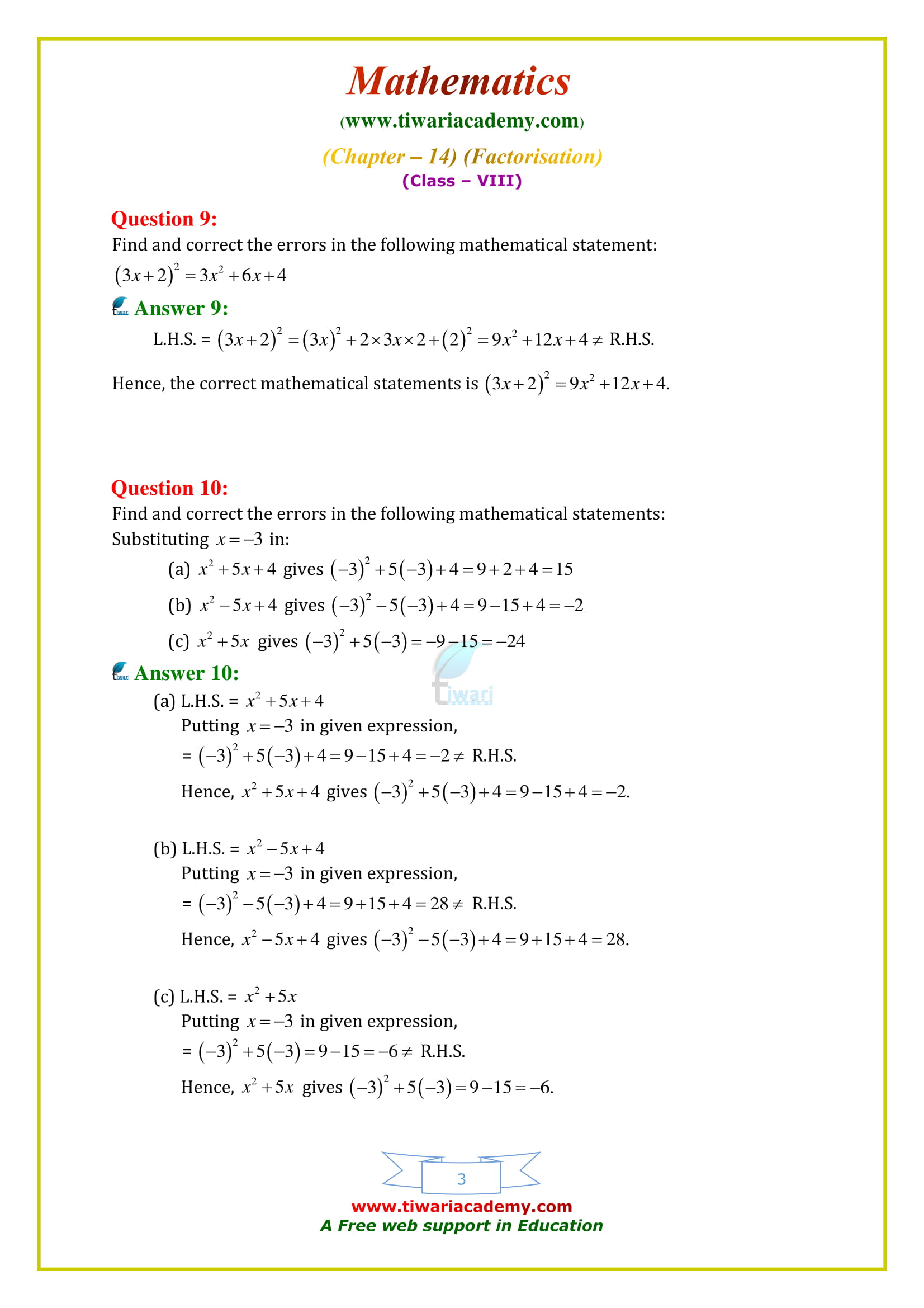 NCERT Solutions for Class 8 Maths Chapter 14 Exercise 14.4 updated for 2018-19