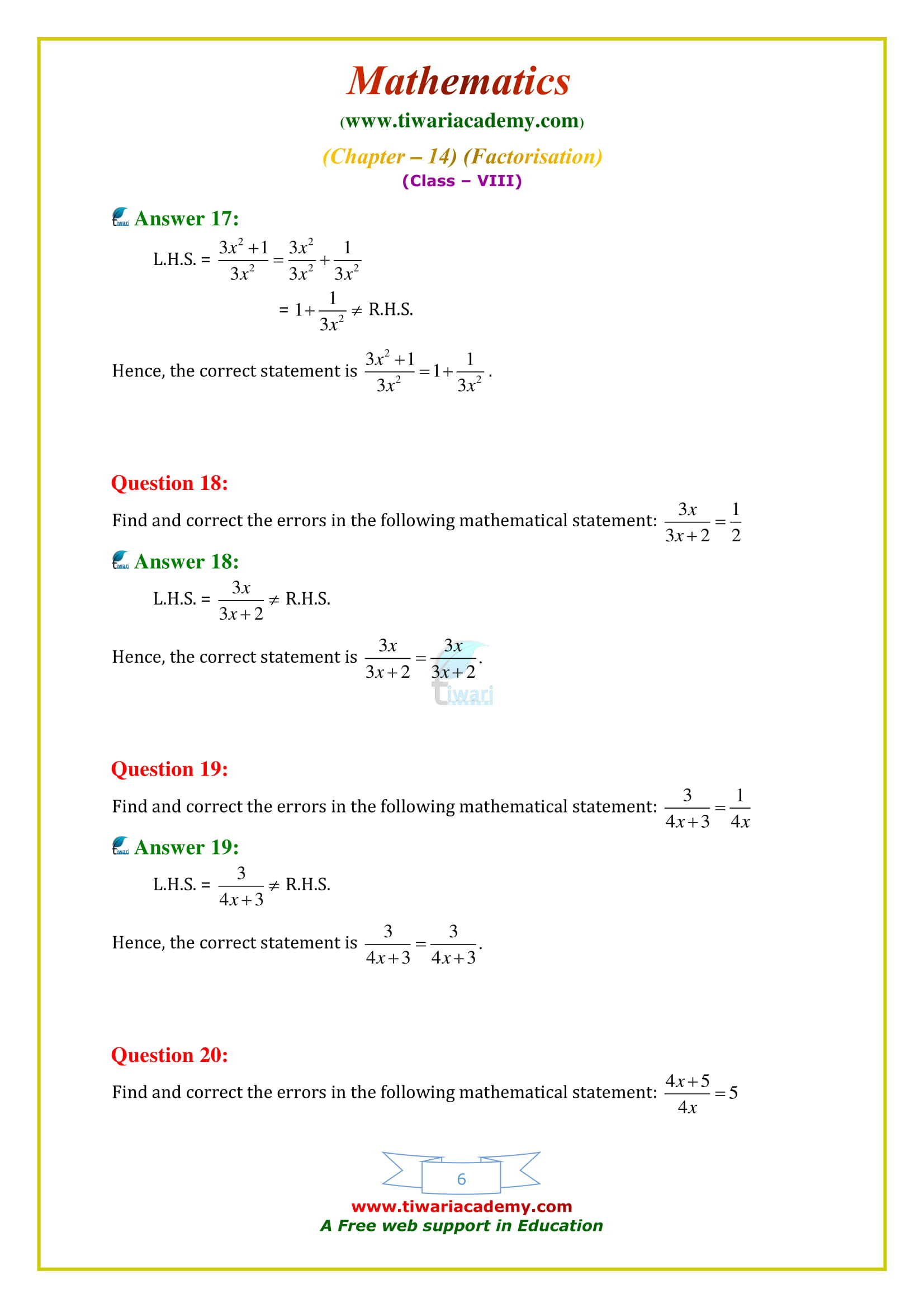 NCERT Solutions for Class 8 Maths Chapter 14 Exercise 14.4 free to use online