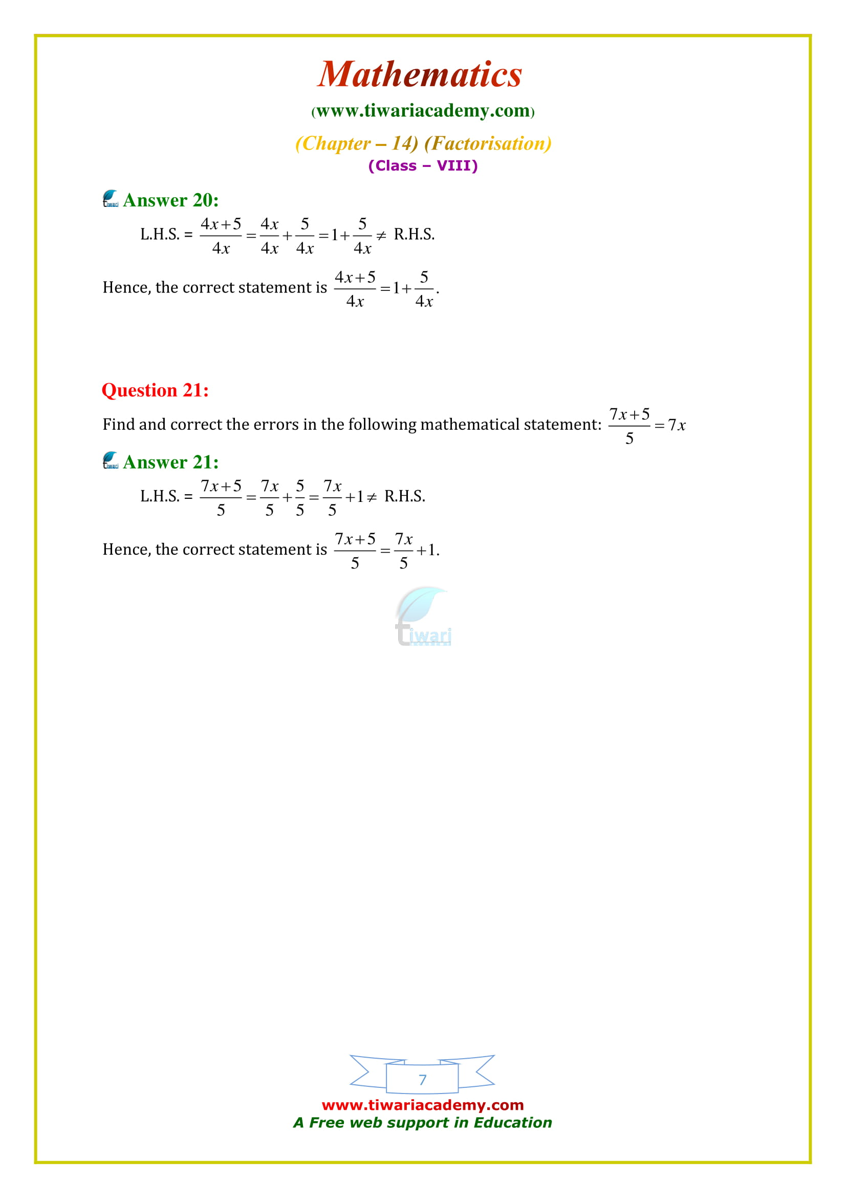 NCERT Solutions for Class 8 Maths Chapter 14 Exercise 14.4 all question answers