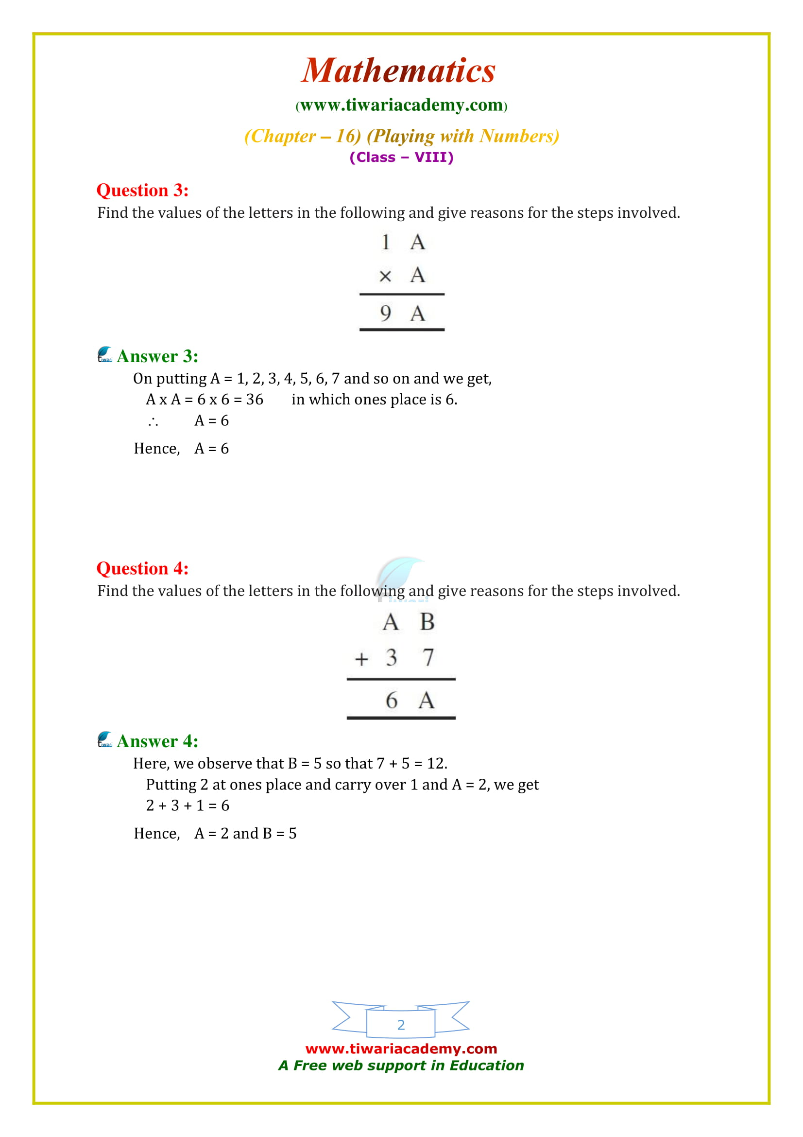 NCERT Solutions for Class 8 Maths Chapter 16 Exercise 16.1 in english medium