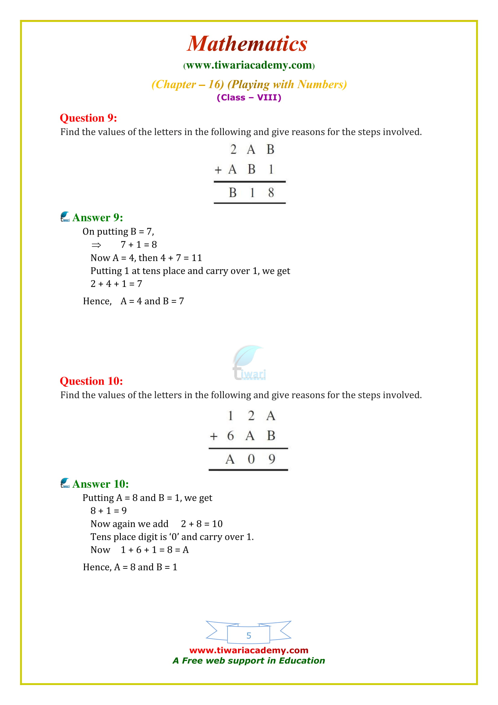 NCERT Solutions for Class 8 Maths Chapter 16 Exercise 16.1 free to download